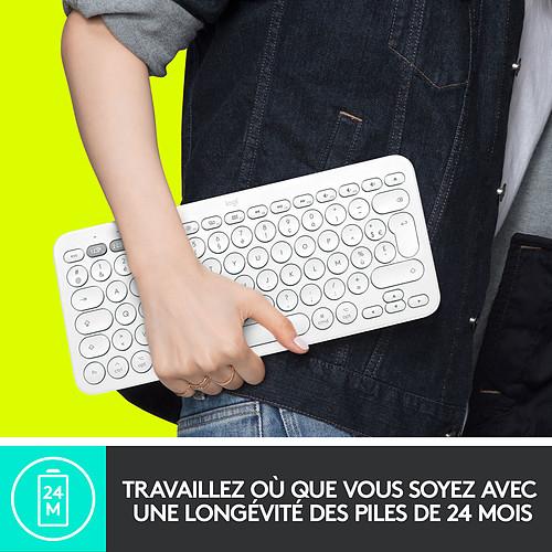 Logitech K380 Multi-Device Bluetooth Keyboard for Mac (Blanc) pas cher
