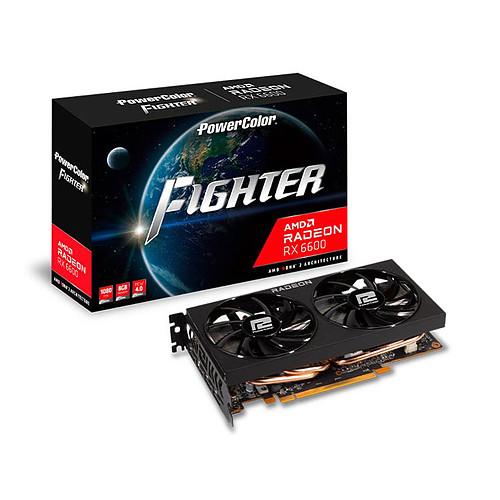 PowerColor Fighter AMD Radeon RX 6600 8GB GDDR6 pas cher