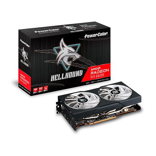 PowerColor Hellhound AMD Radeon RX 6600 8GB GDDR6 pas cher