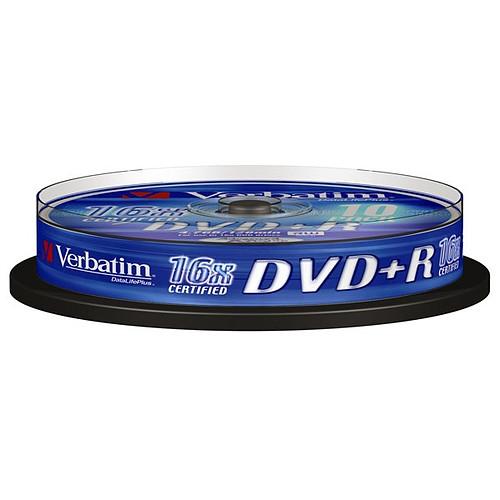 Verbatim DVD+R 4.7 Go 16x (par 10, spindle) pas cher