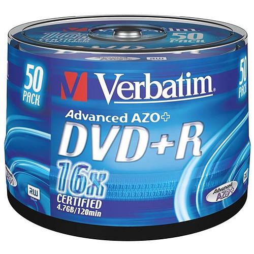 Verbatim DVD+R 4.7 Go 16x (par 50, spindle) pas cher