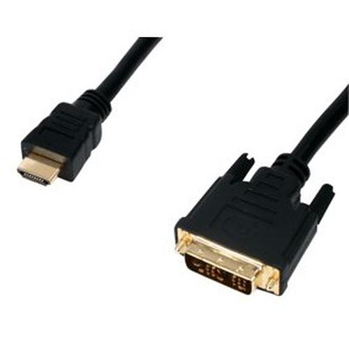 Câble DVI-D Single Link mâle / HDMI mâle (10 mètres) plaqué or pas cher