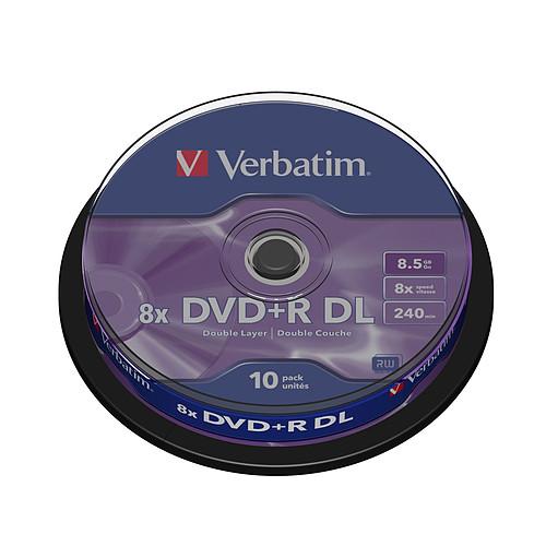 Verbatim DVD+R DL 8.5 Go 8x (par 10, spindle) pas cher
