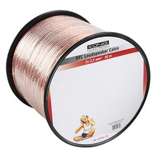 Câble Haut-Parleur 2.5 mm² en cuivre OFC - rouleau de 50 mètres pas cher