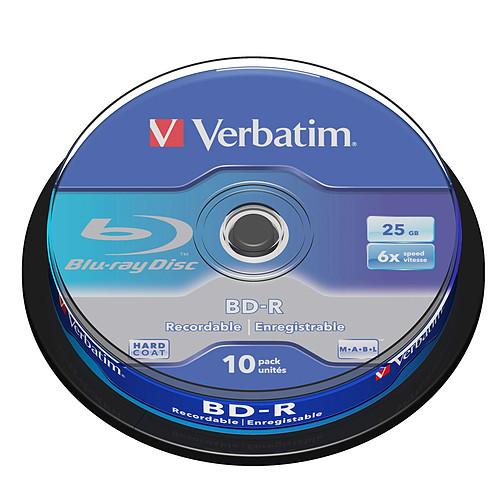Verbatim BD-R 25 Go certifié 6x (par 10, spindle) pas cher