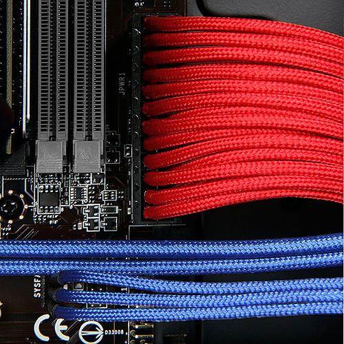 BitFenix Alchemy Red - Extension d'alimentation gainée - ATX 24 broches - 30 cm pas cher