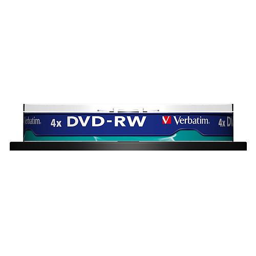 Verbatim DVD-RW 4.7 Go certifié 4x (pack de 10, spindle) pas cher