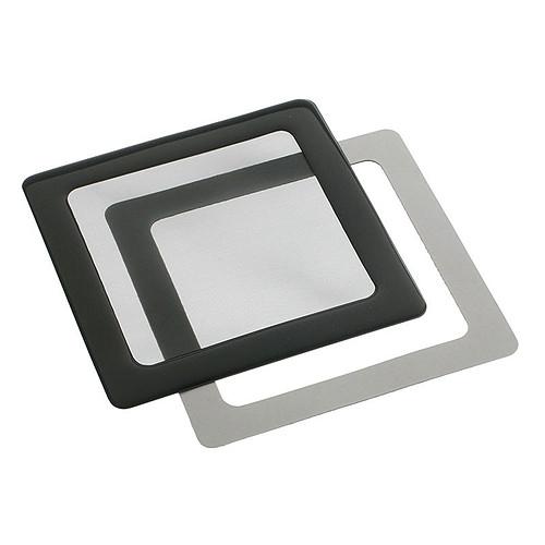 Filtre à poussière magnétique carré 120 mm (cadre noir, filtre noir) pas cher