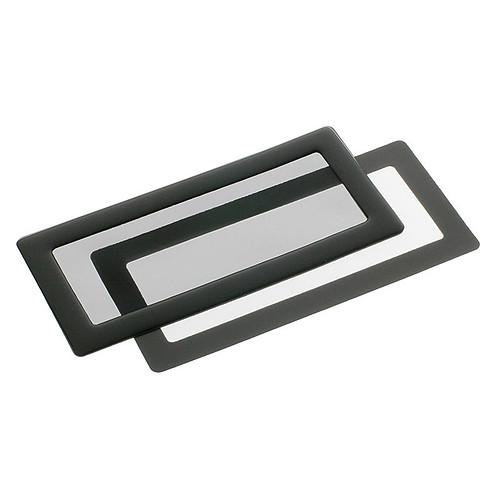 Filtre à poussière magnétique rectangulaire 2x 40 mm (cadre noir, filtre noir) pas cher
