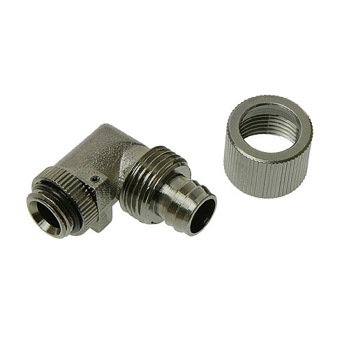 """Connecteur 1/4"""" 13/10 mm coudé 90° (coloris noir) pas cher"""